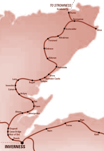 Train Routes In Scotland Map.The Friends Of The Far North Line