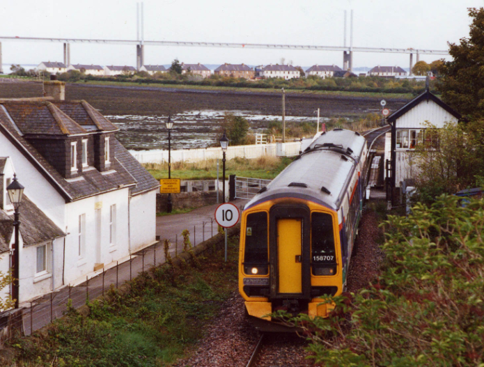 The 10.48 Inverness  - Kyle passing through Clachnaharry