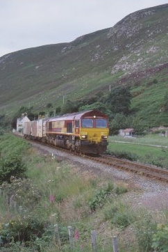 Class 66 with Swap-bodies