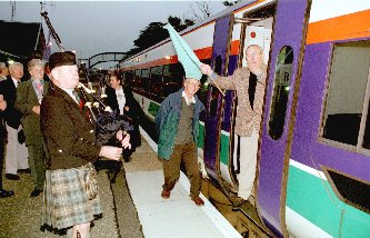Tain Train Send Off